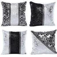 Eg _ Schwarz und Weiß Blumen Kissenbezug Schutzhülle Zuhause Sofa Dekor Preci