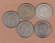 More details for 1939/1947/1948/1953 & 1956 george vi & elizabeth ii halfcrowns mint condition