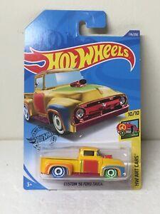 "NEW Hot Wheels HW Art Cars 10/10 ""Custom '56 Ford Truck"" 176/250 TREASURE HUNT"