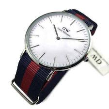 Daniel Wellington Men's Classic Oxford 0201DW Blue Cloth Quartz Watch