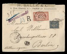 DR WHO 1906 FRANCE PARIS REGISTERED TO GERMANY  g02765