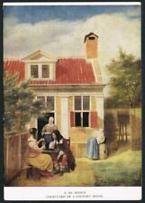 Postcard. Art/Painting. Courtyard of Country House. P. de Hooch. Medici Society.