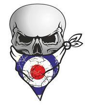 Cranio con Bandana Viso & mod style RAF COCCARDA Target Motivo Auto Adesivo Vinile