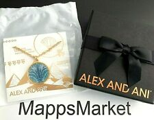 Alex and Ani Blue Lotus 21 Inch 14kt Gold Plated Necklace