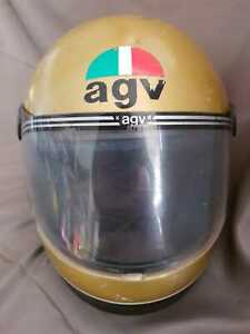 AGV helmet 70's Kenny Roberts Yamaha Rd 350 400 650 XS R5 TX vintage motorcycle