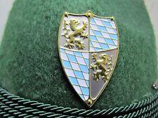Bavarian Shield Large Blue & Gold Oktoberfest Hat Pin