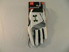 Under Armour UA Baseball Batting Gloves 1299531-410 MDN/WHT/MDN Sz Youth Lrg NWT