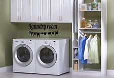 Laundry Room decal Clothesline Vinyl Sticker