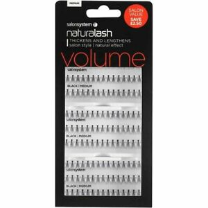 Salon System Naturalash Individual Eyelashes Eye Lashes Black 3 for 2 Medium
