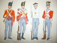 An Original Military Watercolour, 32nd Cornwall Regiment, Uniforms 1812-1815