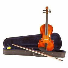 Koda Beginner Violin, 4/4 Size Fiddle, Antique Brown Matt Finish, Comes with ...