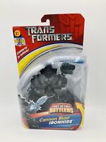 Hasbro TRANSFORMERS Cannon Blast IRONHIDE Fast Action Battlers Robot OOP