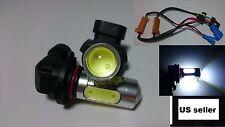 2x 9005 6000K White LED Light Bulbs DRL Cree COB High Beam Decoder Cable Set New