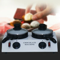 220V Electric Double Chocolate Melting Pot Chocolate Melter Melting Machine