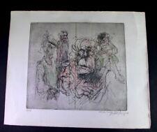 "Graphik ""Gesellschaft""  6/12 - monogr. Gri.. - dat. 1976 - gewidmet Fam. Nobel"