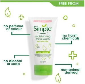 Simple Kind to Skin Moisturising Facial Wash 100% Soap Free Foam | Pack of 3