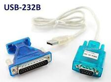 3ft USB to RS232 DB9 Serial Cable with DB25 Converter for GPS, PDA, PC, Modem