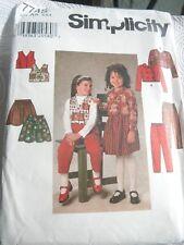 SIMPLICITY SEWING PATTERN 7745: GIRLS JACKET, VEST, SKIRT & PANTS (Sz 2-4)OOP