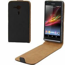 CUSTODIA COVER VERTICAL FLIP ECO PELLE PER SONY XPERIA SP M35h