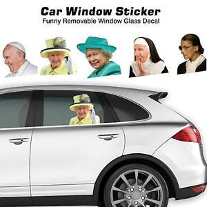Car Window Sticker Funny Removable Window Glass Decal Auto Window Decal
