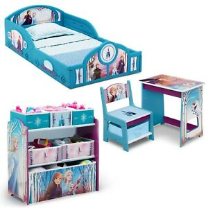 4-Piece Furniture Bedroom Set, Disney Frozen II, Toddler Bed, Table, Toy Box
