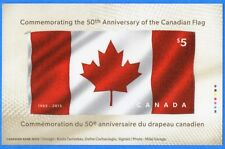 2015 Canada $5 Stamp Souvenir Sheet - 50th Anniversary Of The Canadian Flag