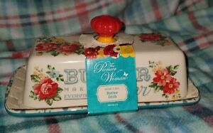 Pioneer Woman Vintage Floral Butter Dish Butter Makes Everything Better