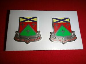 2 Metal Badges US 148th SUPPORT BATTALION Unit Crest Distinctive unit Insignia