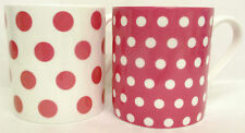 Rosa Puntos & Manchas Tazas Juego De 2 Tazas De Porcelana China. Balmoral Rosa decoradas en Reino Unido