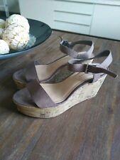 New Look Beige Summer Wedge Platform Sandals Uk 3