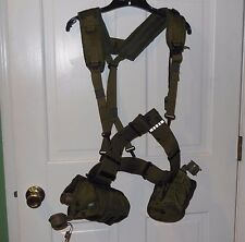 US Military 1978 Equipment Belt Suspenders 1988 Canteen Cover Cups 1996 Whistle