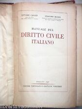 MANUALE DEL DIRITTO CIVILE ITALIANO Ettore Casati Giacomo Russo UTET Giuridica