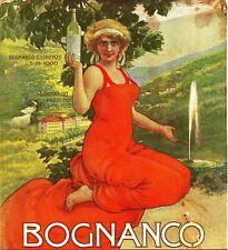 PUBBLICITA' 1915 ACQUA MINERALE BOGNANCO S. LORENZO PRESTINO AUSONIA BALLERIO