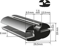 Profilgummi Fensterdichtung Vollgummi Scheibengummi Universalprofil 29mm 3/6 mm