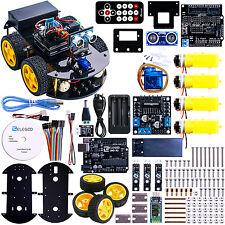 UNO Project Smart Robot Car Kit DIY Set With R3 Ultrasonic Sensor For Arduino