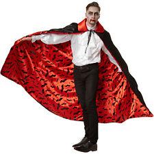 Vampir Umhang Karneval Fasnacht Halloween Dracula Herren Teufel Kostüm Cape edel