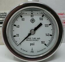 """McDaniel Controls 2.5"""" 0-160 PSI 1/8 NPT Back Glycerin Filled Pressure Gauge JEC"""