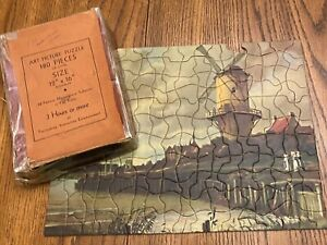 Vintage Tuco Art Picture Puzzle The Old Mill 1932 Small Non Interlocking