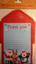 Pack of 10 Christmas Self Adhesive Fun Santa Thank You Letters