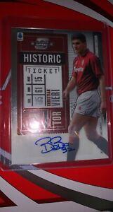 Christian Vieri Panini Chronicles 20-21 Optic Historic Rookie Ticket Autograph