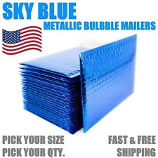 Blue Metallic Bubble Mailers Padded Envelope Protective Packaging Bags Mailers