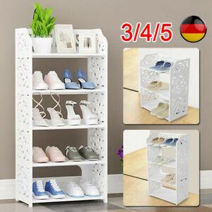 Schuhschrank Schuhablage Schuhregal Schuhständer Schuhaufbewahrung 3/4/5 Schicht
