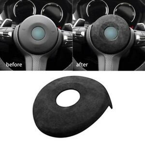 For BMW F Chassis 1 2 3 4 Series,New Suede Car Steering Wheel Airbag Decoration
