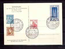 GERMANY 1948 Cologne set FDC on special postcard