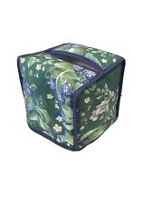 Laura Ashley Bramble Tissue Box Cover Cube Soft Sided Cotton 5� x 5� x 5�