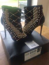 River Island Ladies Jewelled Leather Boots RRP £150 Half Price UK 6 EUR 39 BNIB
