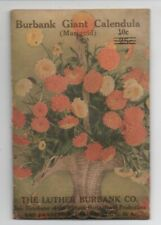 Rare 1914 Unopened Package of Luther Burbank Marigold Seeds SF CA