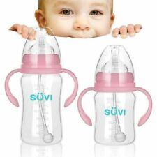 Anti Colic BPA Polypropylene Natural Baby Feeding Bottle Wide Mouth Medium Flow