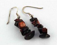 Pendientes de joyería de metales preciosos sin piedras rojas