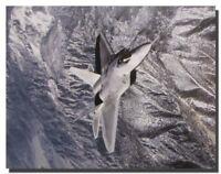 Military F/A 22 Raptor Jet Aviation Wall Decor Art Print Poster (16x20)